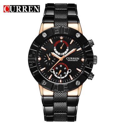 e6c1efc1e54 Marca de luxo CURREN relógio esporte militar homens de aço cheia relógios  Casual relógio de quartzo