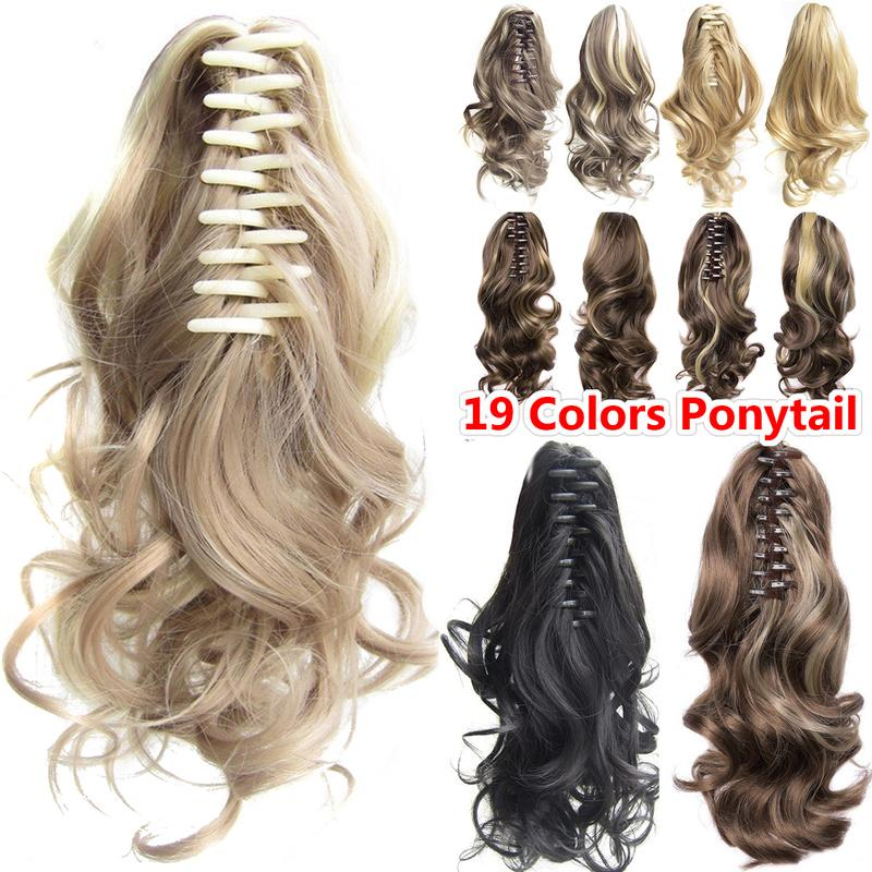 19 цветов, длинный волнистый синтетический зажим для хвоста «пони» в наращивании волос, парик для косплея – купить по низким ценам в интернет-магазине Joom
