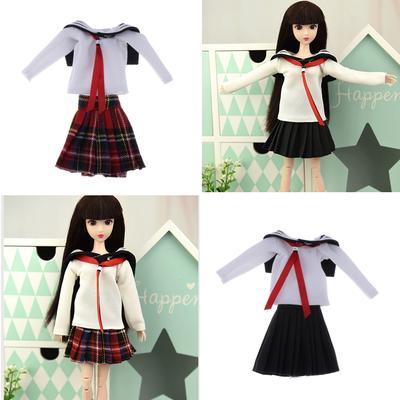 1//6 Handmade Adorable School Uniform for 12/'/' Blythe Doll Clothes Set of 3