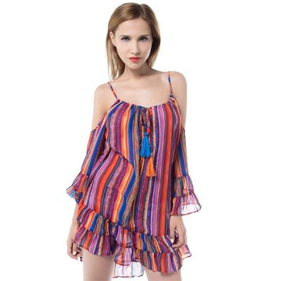 75642633311 Мода женщин карандаш мини-платье платья туника без рукавов красочный  элегантный тонкий платье оболочка