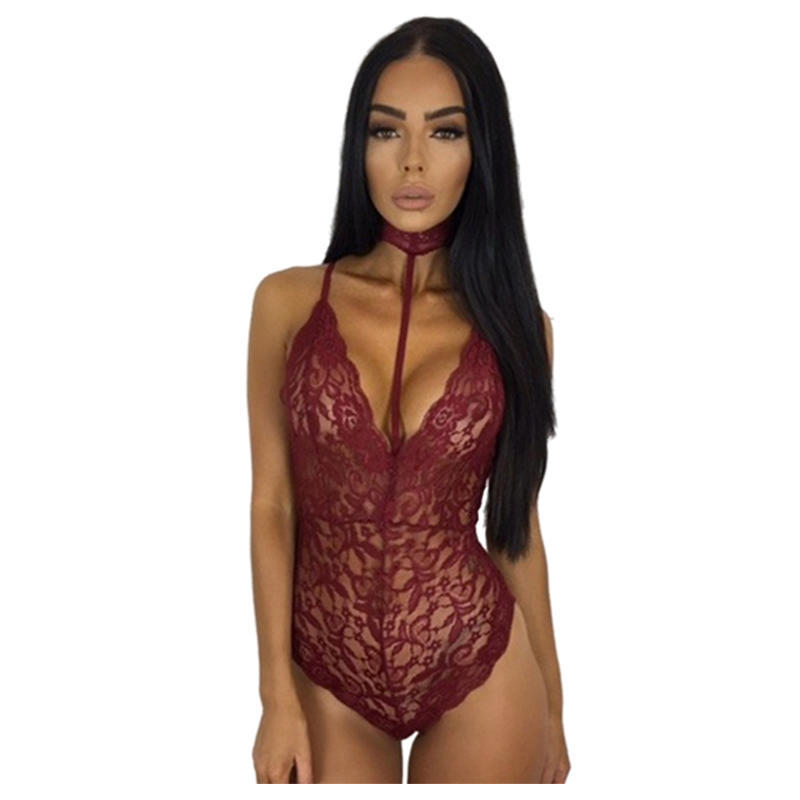 4263abe70d Lace Halter Bodysuit Women See Through Summer Playsuit Mesh Sexy Bodycon  Rompers Jumpsuits Bodysuits-buy at a low prices on Joom e-commerce platform