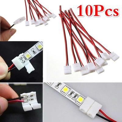 LED Solderless Connector AWG Wire Cable Connect Adaptor Single LED Light Strip