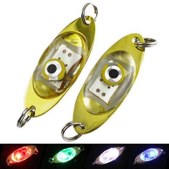 Eye Shape LED Deep Drop Underwater Fishing Squid Fish Lure Light Flashing Lamp
