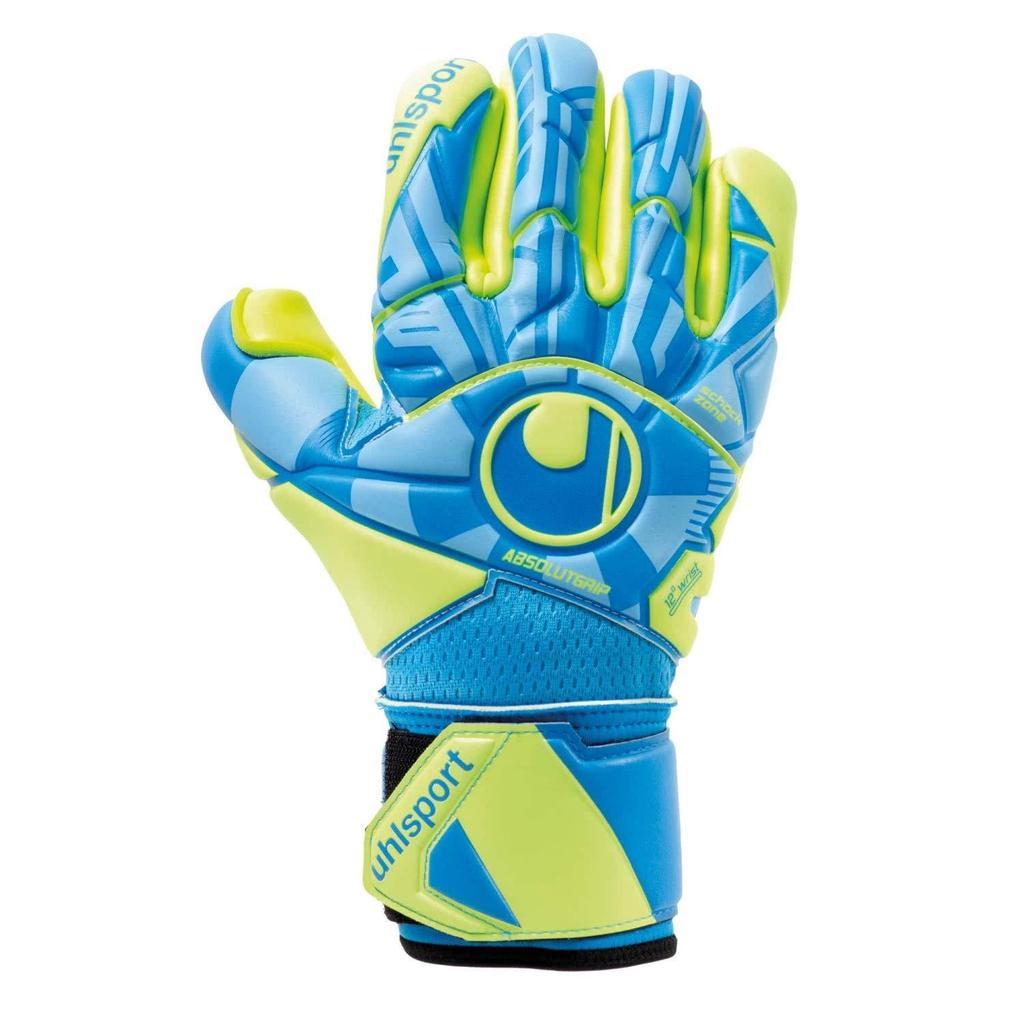 Uhlsport Eliminator Soft RF Comp Goalkeeper Gloves Football Blue Black Yellow