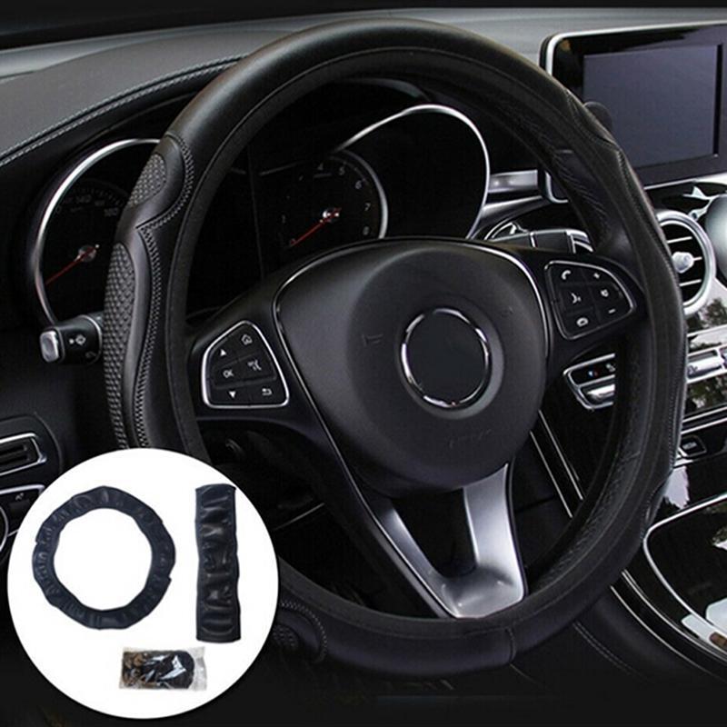 Универсальный автомобиль Рулевое колесо Крышка Кожа Breathable Anti-Slip 38Cm – купить по низким ценам в интернет-магазине Joom