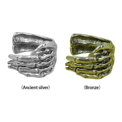 Jewelry & Accessories Earrings 1pc Unisex Punk Simple Design Silver Color Skeleton Finger Hand Ear Clip Ear Cuff
