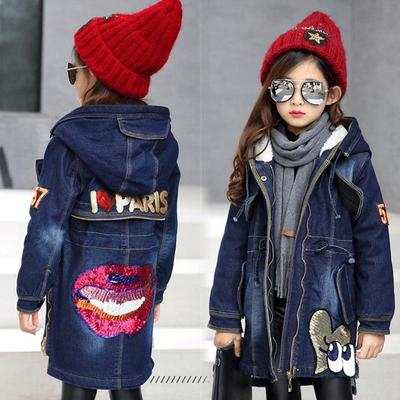 a28c812ecb Niños bebé niña dibujos animados Cachemira engrosamiento abrigos largos rompevientos  con capucha chaqueta abrigo