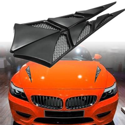 Senyar 2pcs Car Vent Hole Covers,Universal ABS Side Air Flow Intake Grille Vent Net Hole Cover Decorative Sticker carbon fiber