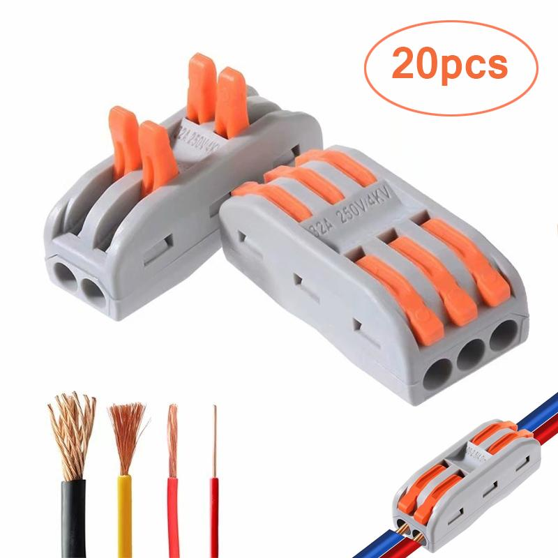 Two Way Lever Fast Wire Connector Electrical Conductor Compact Wire Connectors Wiring Cable Termina Buy At A Low Prices On Joom E Commerce Platform