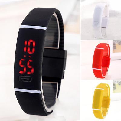 4baf672f Дети дети мальчик девочка унисекс LED цифровые наручные часы Открытый спорт  Электрические браслет