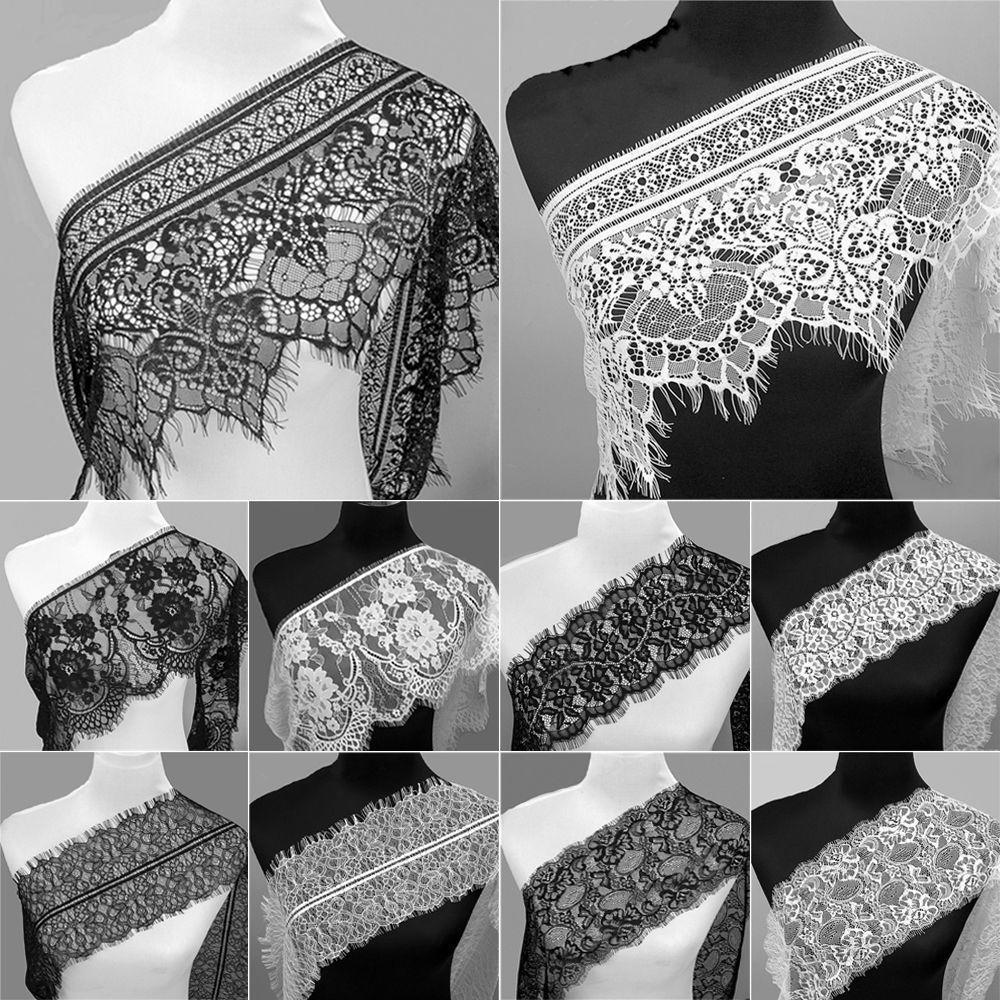 3cm width 3m Vintage style Cotton crochet lace trim WHITE Ribbon Sewing Crafts