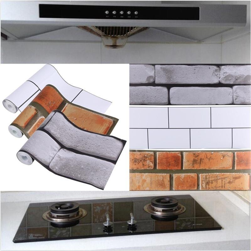 Oilproof Fireproof 2//3//5M Self Adhesive Kitchen Oil Proof Stickers Waterproof