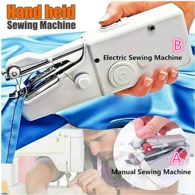 Mini Portable Hand-held Sewing Machine Electric Tailor Stitch Sewing/&Sewing Kit.