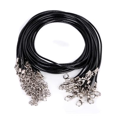 10pcs Whole Black Pu Leather String