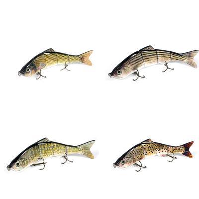 Multi Jointed Lures Lifelike Fishing Bait Minnow Plug