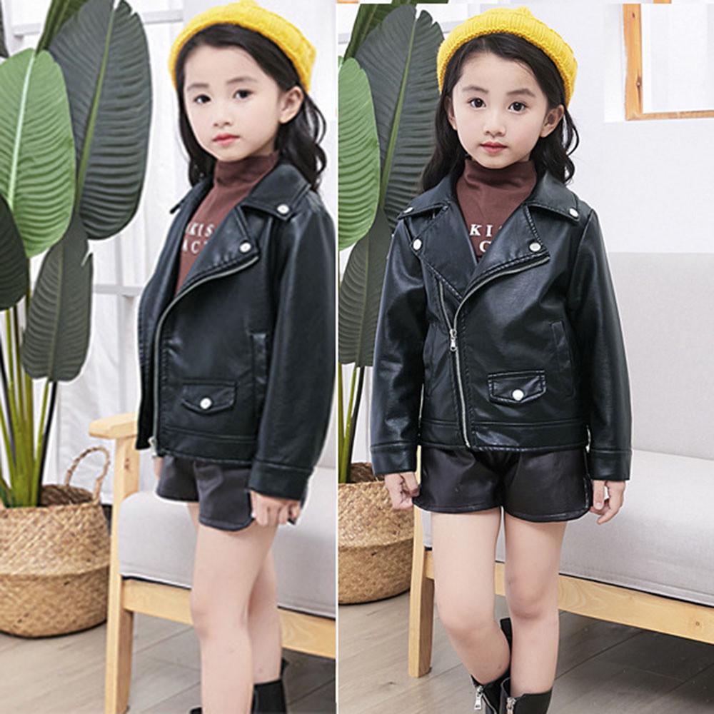 Kids Leather Short Jacket,SIN vimklo Boys Girls Kids Outerwear Autumn Winter Leather Outwear Clothes