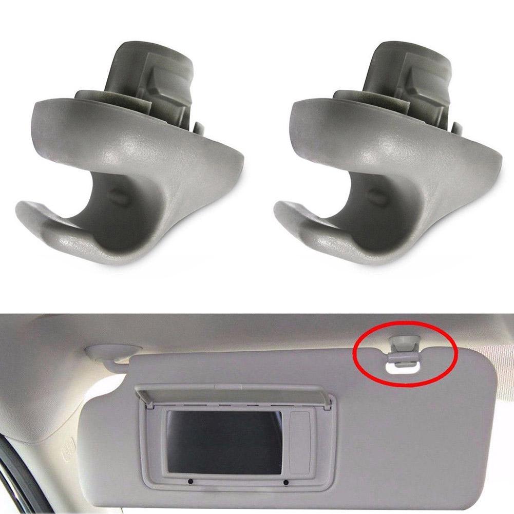2Pcs Sunvisor Clips For Honda Accord Civic Si CR-V Element Pilot 88217S04003ZA