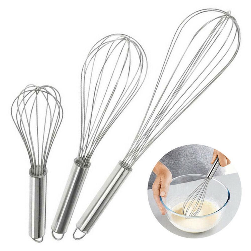 New Balloon Stainless Steel Handle Mixer Whisk Egg Beater Kitchen Tool Utensil T