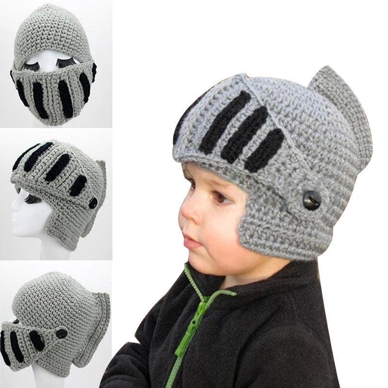 Novedad los niños romano caballero armadura gorras de ganchillo ...