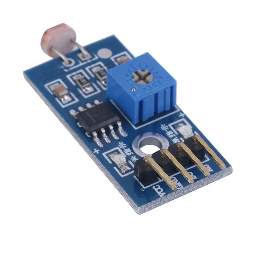 3.3-5V input LM393 light Sensor Module for Arduino DO//AO output W Cables UK
