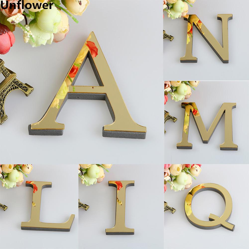 Welcome 3D Acrylic Mirror Sticker Silver//Gold//Black