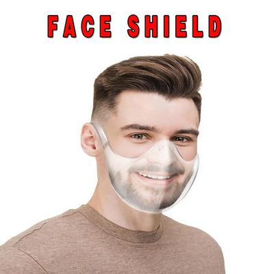Face Shield Large Mirror Guard Protector Oversized Visor Wrap Shield Halloween Mask With Breathing