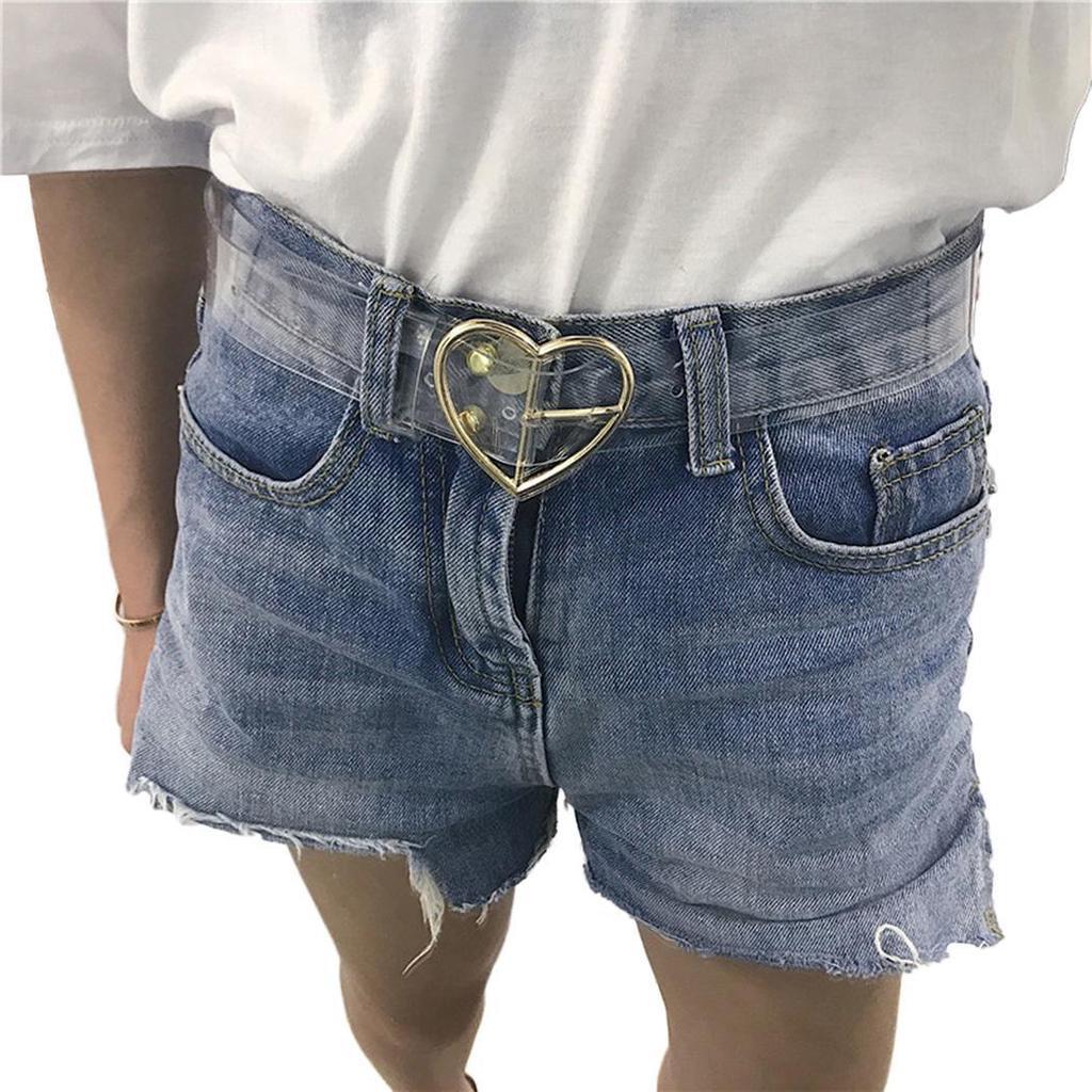 New Women Resin Transparent Long Waist Belt Adjustable Waistband AGSG