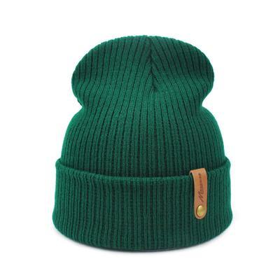 Beanie Unisex Knitted Beanie Hat Winter Plain Warm Hat Women Crochet Ski Slouchy Skull Cap