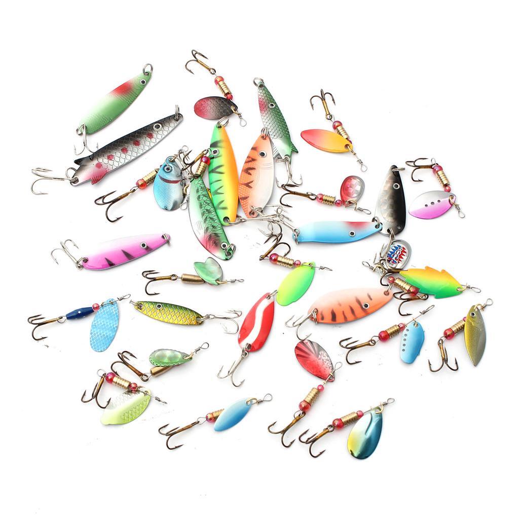 5PCS//Lot Fishing Spinner Spoon Bait Metal Crankbait Lures Bass Tackle 7cm//21g