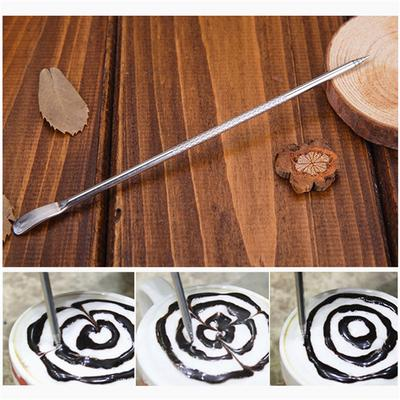 Stainless Steel Cappuccino Latte Espresso Coffee Decorating Art Pen Fancy Coffee Cafe Mixer Tool