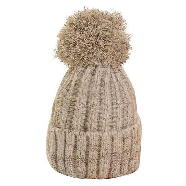 Winter Warm Frauen Lady Häkeln Ski Cap Mütze Beanie Bobble Aus Wolle