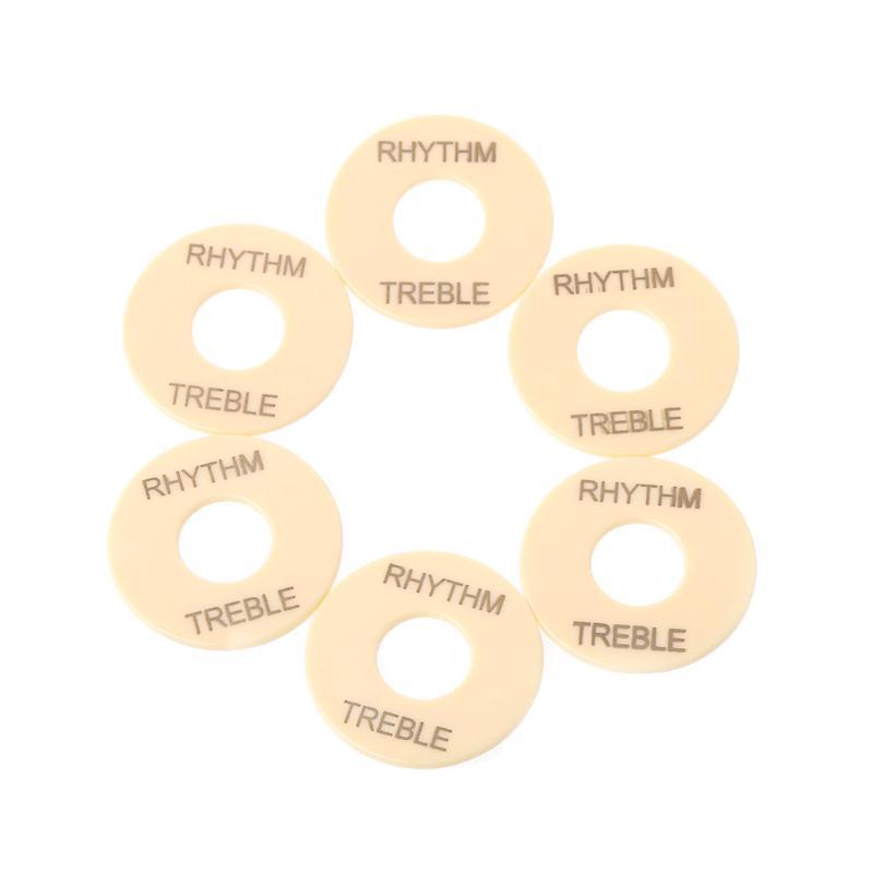 Rhythm//Treble Ring For Les Paul CREAM PLASTIC NEW
