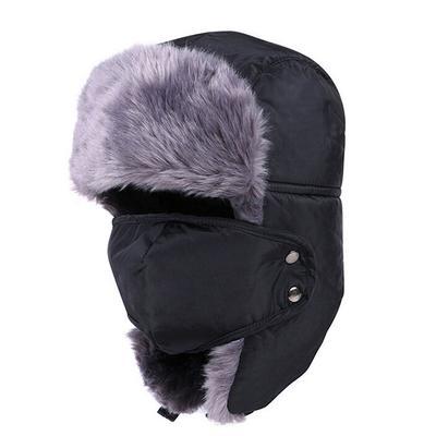 71568e86 Winter fur hats Outdoor Windproof Thick warm winter snow women cap Face  Mask men's cycling hat