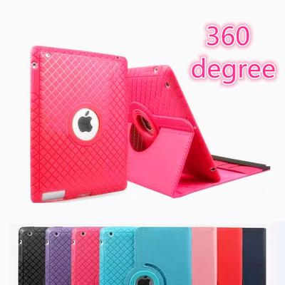 0bbc22bfca PU Leather Apple IPad Case for IPad 2 3 4 Stand 360 Rotating Flip Case for