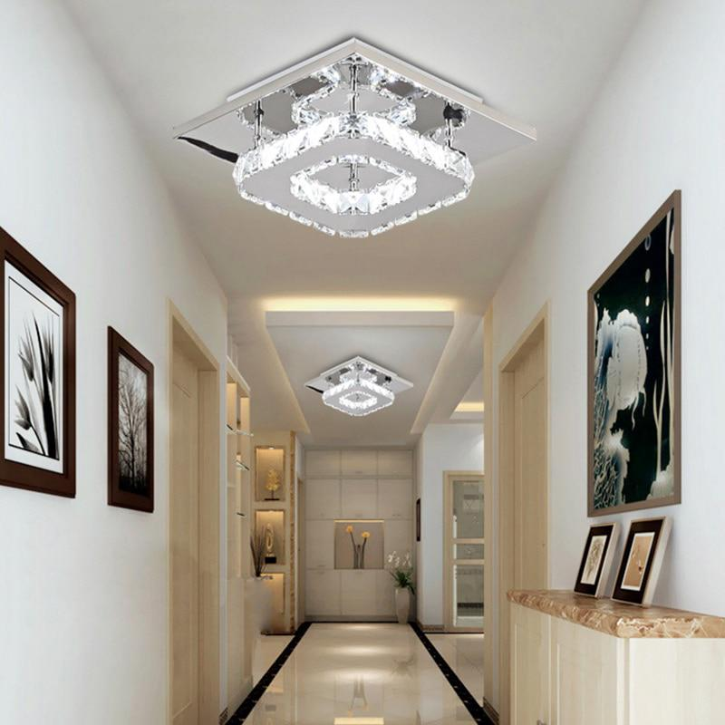 Square Led Ceiling Light Crystal, Ceiling Lights For Living Room