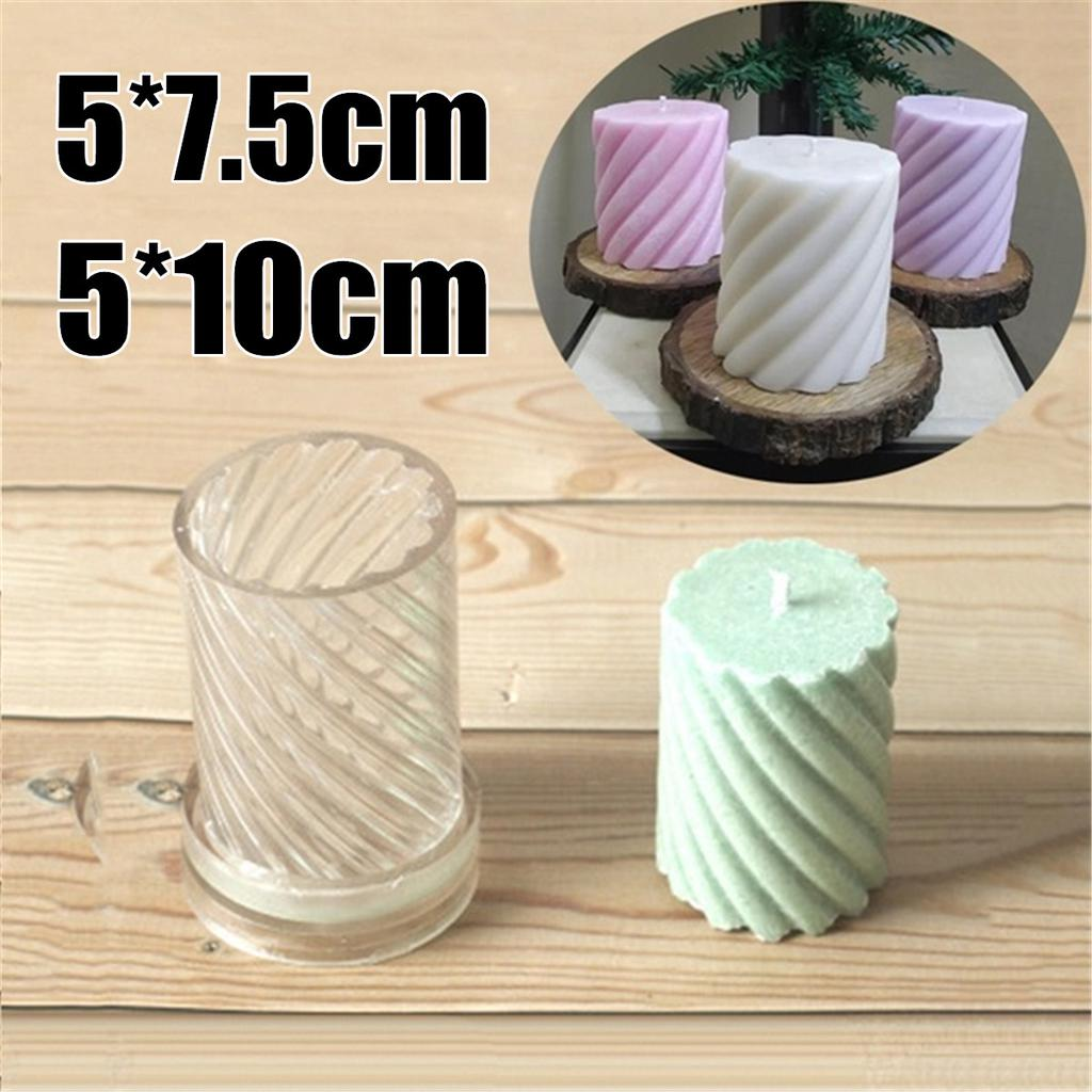 Art Crafts sharprepublic 3 x 6 Inch Rubber Candle Mold for Candle Making Kit Candles Craft Mold Candle Making Molds for Party Favors