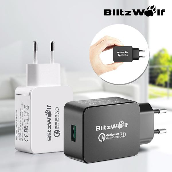 [Qualcomm Certified] BlitzWolf BW S5 EU Plug QC3.0 18W USB Travel Wall Charger With Power3S Tech
