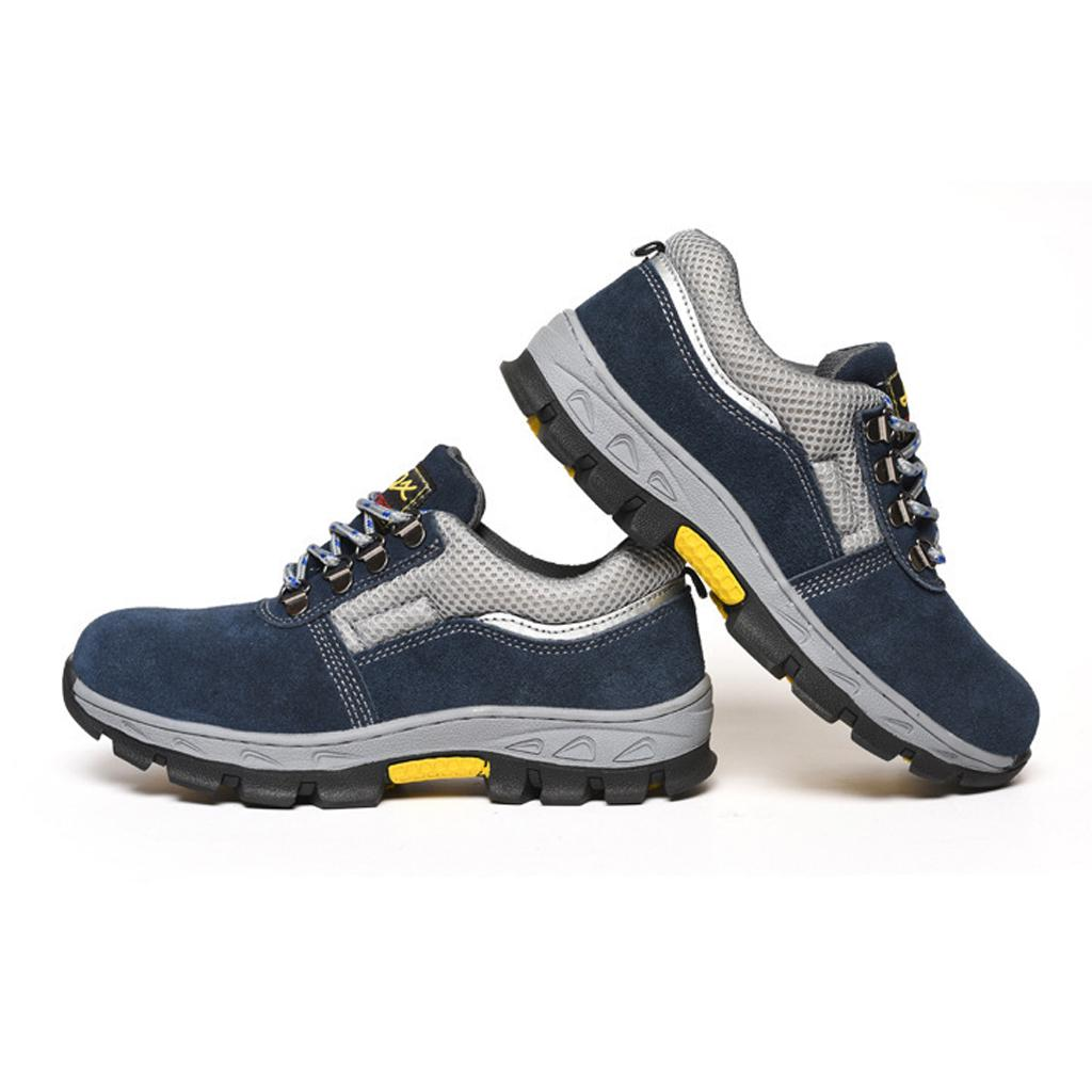 Safety Trainers Shoes Steel Toe Cap Work Boots Anti-smash UK 9.5 EU44