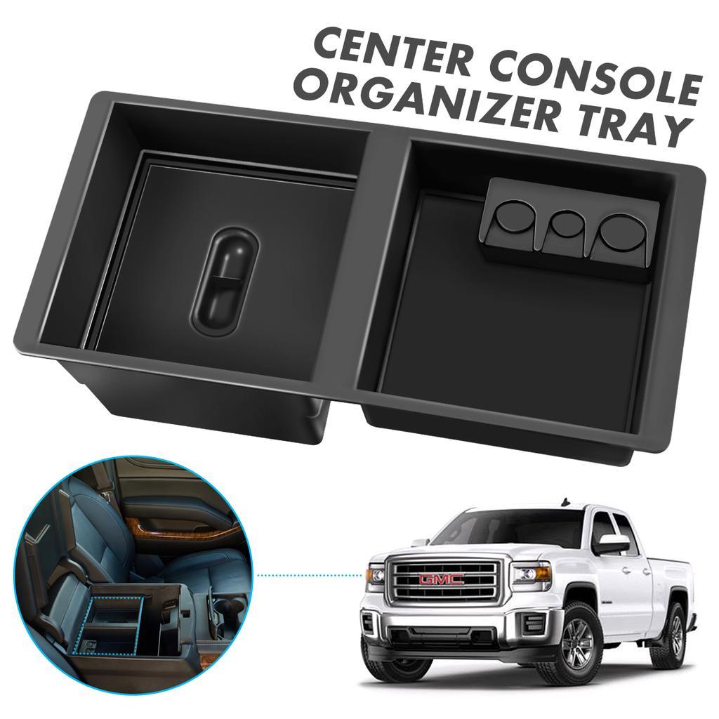 Carbon Fiber  SECRET COMPARTMENT Console Organizer 14-18 Chevrolet Silverado GMC