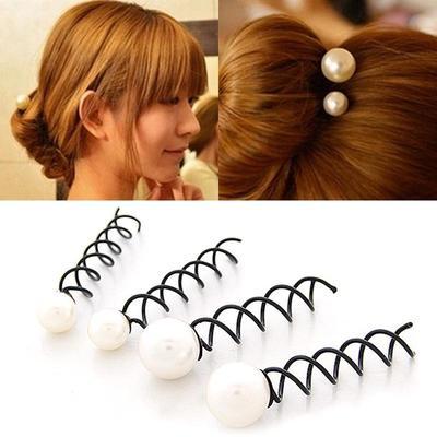 1 2pcs Women Korean Hairstyle Bun Maker Tools Rotation Screw