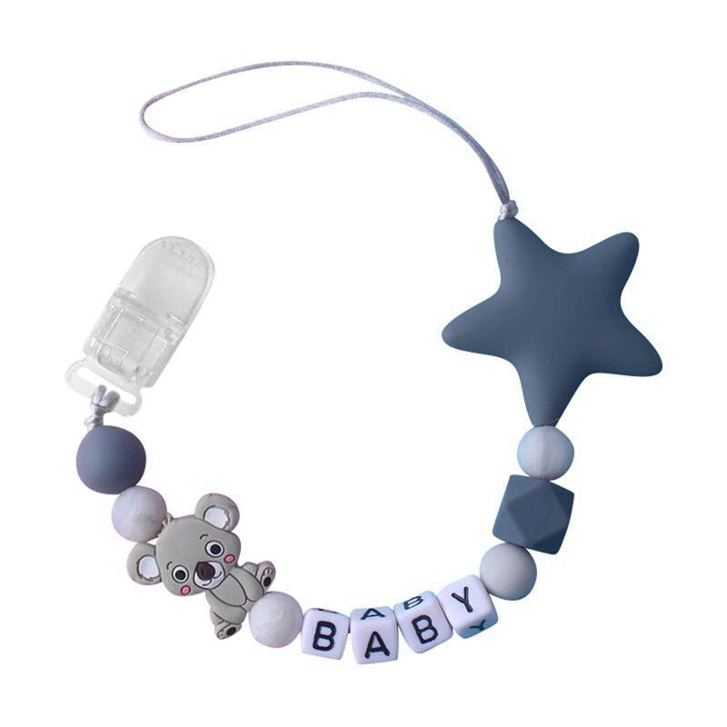 Unicorn Dummy Clip Binky clip sucette chaîne anneau de dentition Chaîne licornes Ajouter Adaptateur