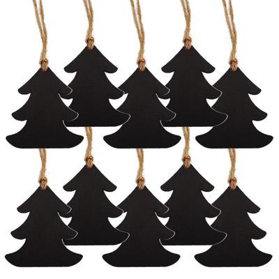 10pcs Wood Angel Shape Embellishment Tag Christmas Tree Hanging Decor