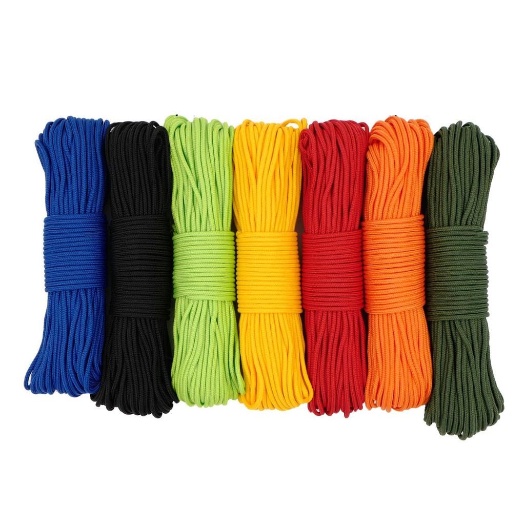 7 Colors Paracord Set 3mm 9.8FT Polyester Parachute Cord One Stand Cores Rope