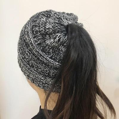 Chica Stretch Knit Hat gorros invierno caliente perforado moda ...