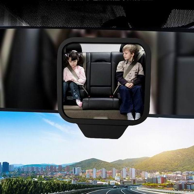 1 pc Adjustable 270 Degree Wide-angle Lens Design Car Rear Seat Rearview Mirror Backseat Blind Spot Mirror