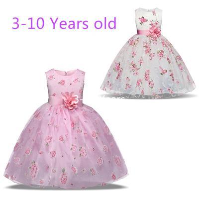 1462a6ffe Verano Baby Girl flor vestido de princesa vestido de tutú traje fiesta  vestido de la boda