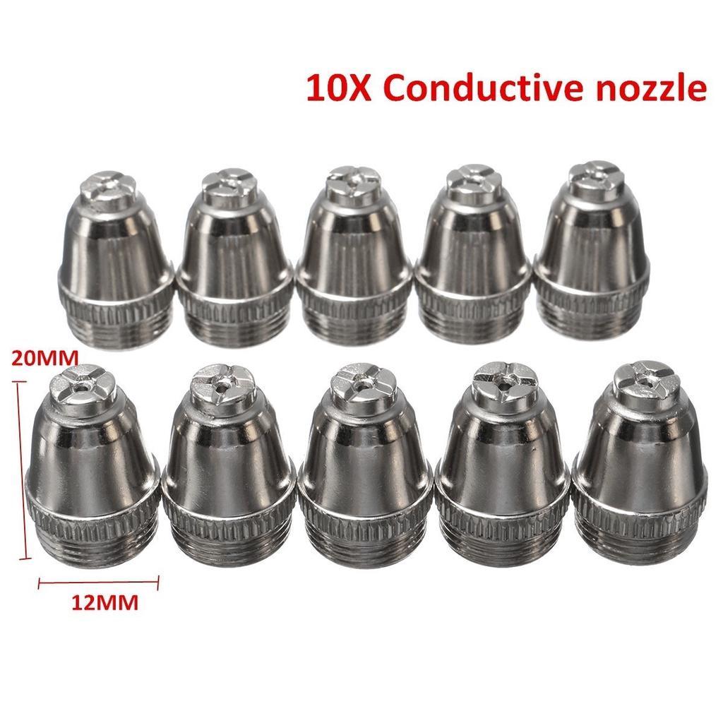 26PCS Plasma Cutter Torch Consumables Nozzle Electrode For LTP5000D LTPDC2000D