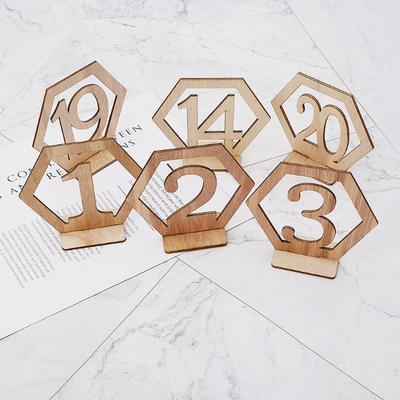 1-10 Wooden Table Numbers Set with Base Birthday Wedding Party Decor Gifts New