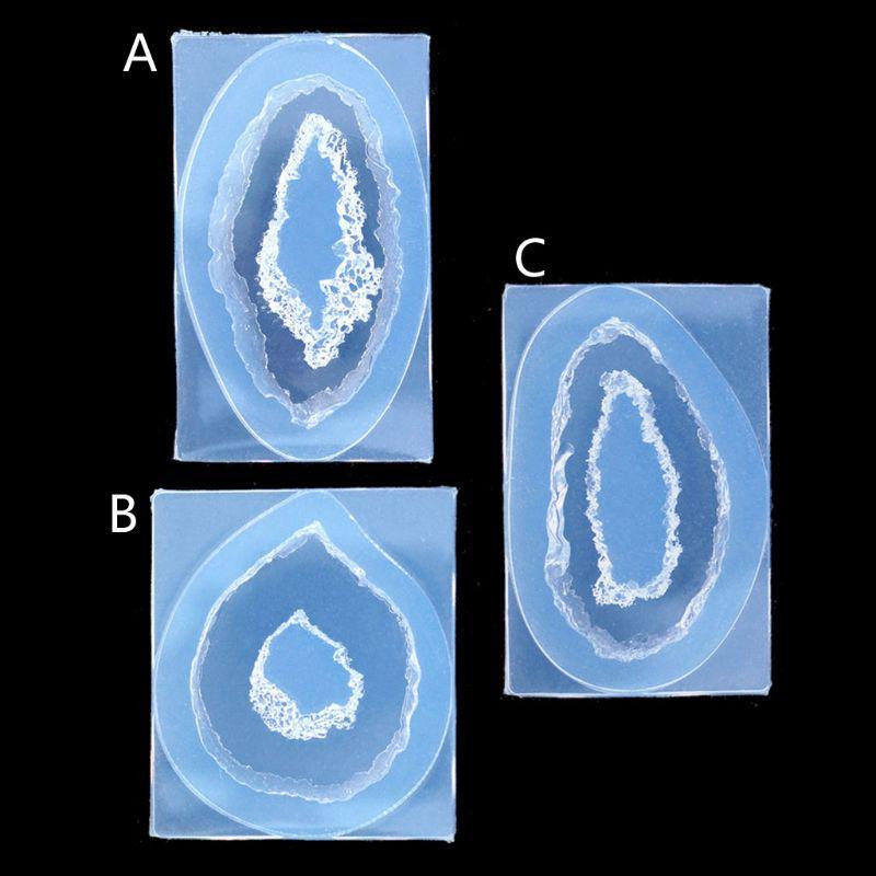 DIY Natural Druzy Gem Resin Mold Quartz Rock Cluster Pendant Mold Resin Jewelry