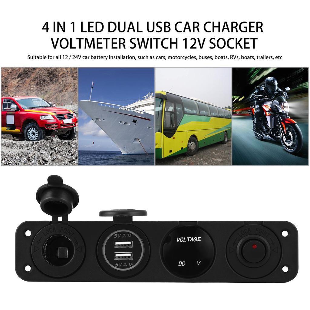 MARINE RV CAR TRUCK TRAILER WHITE MINI USB CHARGER INPUT 12-24V OUTPUT 5V//2.1A